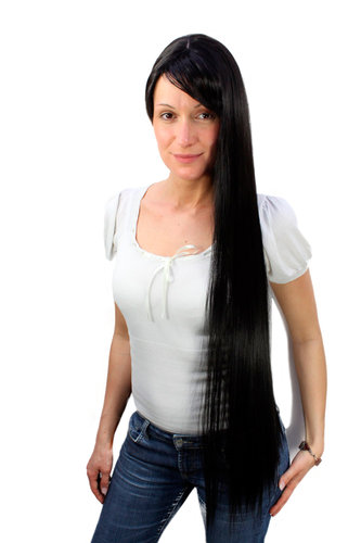 Quality Lady Wig EXTRA LONG black FAIRYTALE WIG (9293L Colour 2)