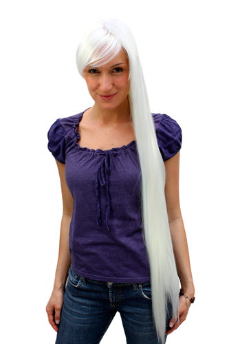 EXTRA LONG platinum white FAIRYTALE WIG faery elv ICE QUEEN (9293L Colour B80)
