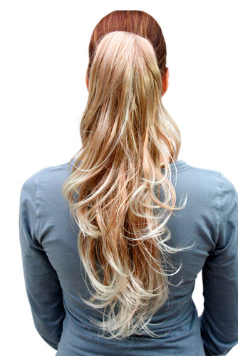 Hairpiece PONYTAIL long WAVY blond mix (T148M Colour 27T613) blonde extension