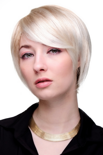 Lady QUALITY Wig short DOM & SEXY crazy parting cosplay BLONDE (6082 Colour 27T613)