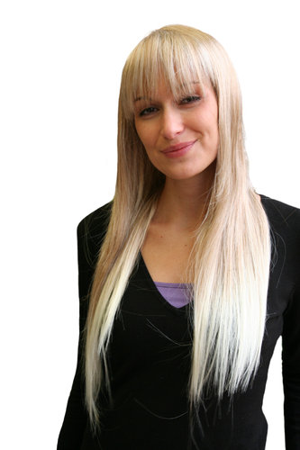 ANGEL & VAMP blonde LADY WIG long BANGS fringe straight (9293 Colour 27T613)