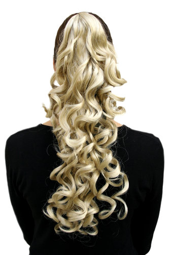 Hairpiece PONYTAIL long curls BLOND (NC218 Colour 202) blonde Extension Butterfly Clamp