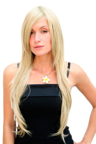 BREATHTAKING blonde LADY QUALITY WIG very long straight SEXY PARTING (3110 Colour 234)