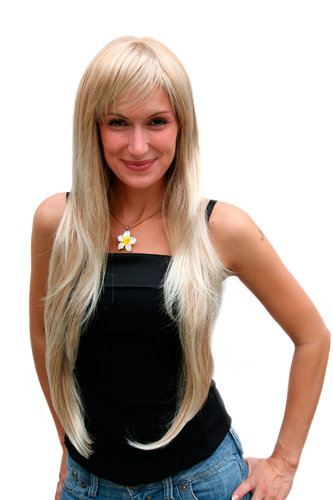 Perücke, blond, Pony, lang, Wig 6311-27T613