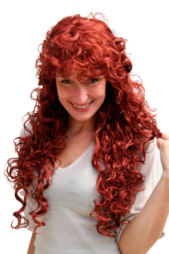 JEZEBEL red LADY QUALITY WIG long CURLS (9229 Colour 350)