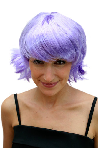 Party/Fancy Dress/Halloween Lady WIG Bob short lilac purple WILD COLOUR and STYLE disco Cosplay