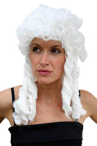 Party/Fancy Dress Lady Man unisex WIG BRIGHT BLOND WHITE CURLY baroque MARIE ANTOINETTE aristocrat
