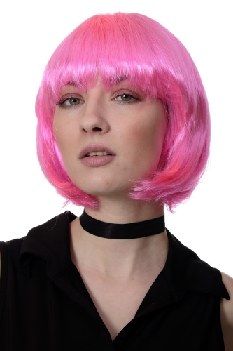 Party/Fancy Dress/Halloween Lady WIG Bob fringe short sexy PINK disco PW0114-PC5 COSPLAY