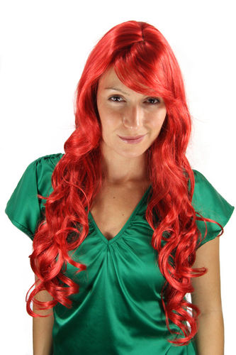 STUNNING Lady Fashion Quality Wig RED as SIN wavy slightly curly 9204S-137 Peluca Cosplay Roleplay