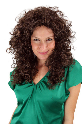 Party/Fancy Dress WIG seductive Vamp CARIBBEAN LATIN style very curly kinky AMAZING VOLUME BROWN