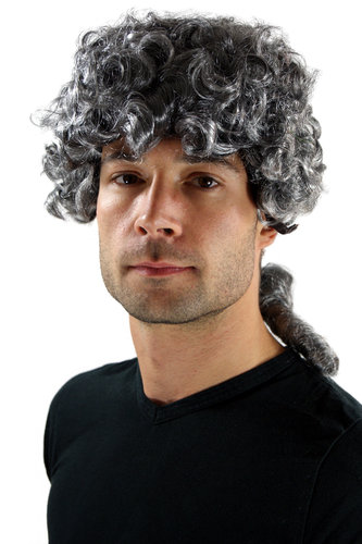 Party/Fancy Dress WIG unisex black SILVER GREY baroque LORD JUDGE prince duke PIRATE Dick Turpin