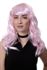 Party/Fancy Dress/Halloween Lady WIG long PINK techno disco fairy GOOD WITCH sexy FRINGE