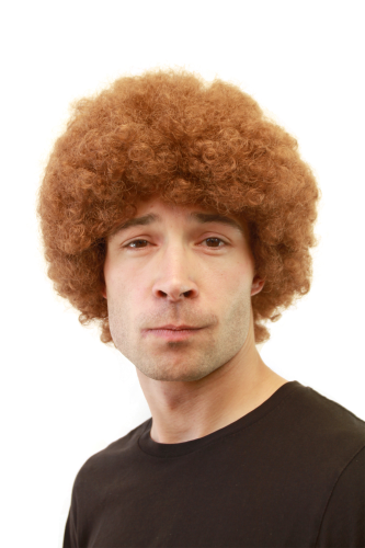 Men s WIG (for Men or Unisex) HIGH QUALITY synthetic fiber Afro Style kinky  CURLS curly light BROWN 0662dedbf