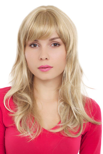 VERY CHIC & SEXY Lady Quality Wig NATURALLY MIXED BLOND strands streaks long slightly wavy