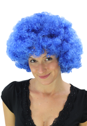 Party/Fancy Dress/Halloween WIG gigantic super volume BLUE disco AFRO funky huge HAIR! PW0011-PC3