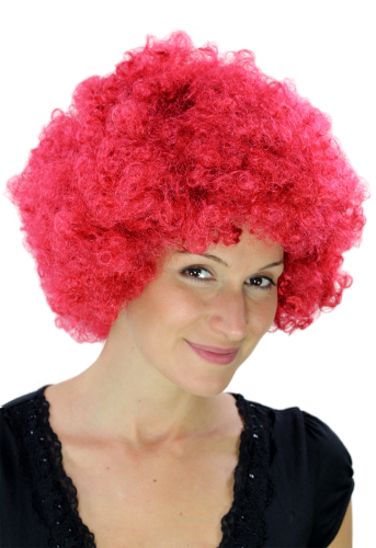 Party/Fancy Dress/Halloween WIG gigantic super volume foxy ruby RED disco AFRO funky huge HAIR!