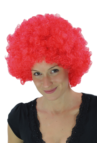 Party/Fancy Dress/Halloween WIG gigantic super volume RED disco AFRO funky huge HAIR! PW0011-PC13