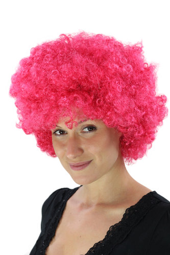 Party/Fancy Dress/Halloween WIG gigantic super volume PINK disco AFRO funky huge HAIR!