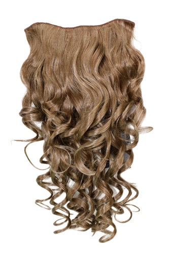 Hairpiece Halfwig 7 Microclip Clip In Extension VERY long BEAUTIFUL curls curled curly DARK BLOND