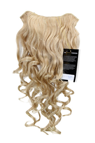 Hairpiece Halfwig 7 Microclip Clip In Extension VERY long BEAUTIFUL curls curled curly gold blond