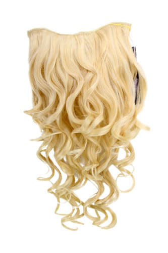 Hairpiece Halfwig 7 Microclip Clip In Extension VERY long BEAUTIFUL curls curled BRIGHT BLOND