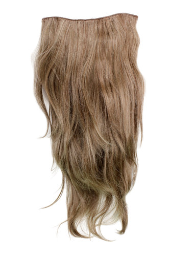 Hairpiece Halfwig (half wig) 7 Microclip Clip In Extension long straight slight wave wavy DARKBLOND