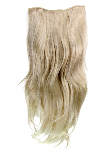 Hairpiece Halfwig 7 Microclip Clip In Extension VERY long straight slight wave wavy BLOND H9505-22