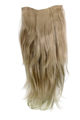 Hairpiece Halfwig 7 Microclip Clip In Extension VERY long straight slight wave wavy BLOND ashblond