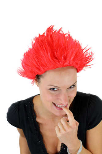 Party/Fancy Dress/Halloween Wig FIRE DEMON devil she-devil LOKI red spiky VZ-037-PC13
