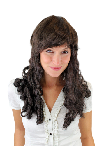 Party/Fancy Dress/Halloween Wig with LONG ROMANTIC baroque Coils/Curls brown VZ-044-K5(A445)
