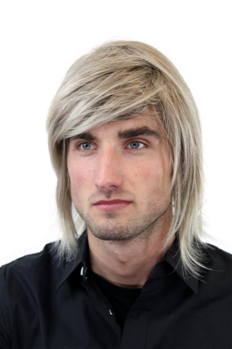 Men's WIG (for Men or Unisex) HIGH QUALITY synthetic long PLAYBOY Beach Blond Surfer youthful