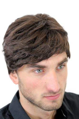 Men's WIG (for Men or Unisex) HIGH QUALITY synthetic short BROWN youthful young yet CLASSY look Man