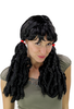 Party/Fancy Dress Lady WIG long 2 Plaids BRAIDS pigtails COILED black Gothic Baroque COLONIAL