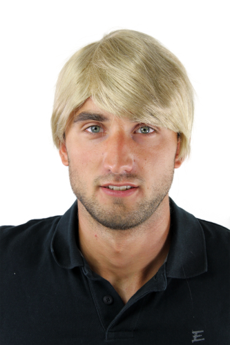 Men's WIG (for Men or Unisex) HIGH QUALITY synthetic short BLOND youthful young look parting Man
