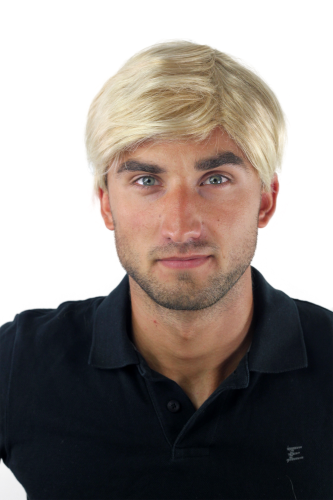 Men's WIG (for Men or Unisex) HIGH QUALITY synthetic short MIXED BLOND youthful young look Man