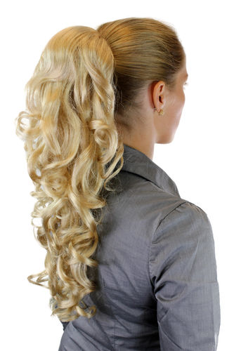 Hairpiece PONYTAIL extension LONG & AMAZING volume BRIGHT BLOND curly BEAUTIFUL curls WK03-202