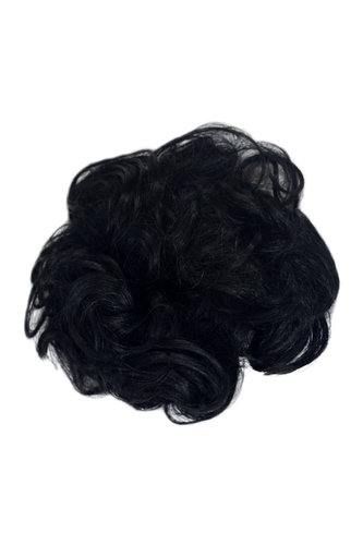 Hair Piece Hair Tie elastic Scrunchie Scrunchy HIGH QUALITY synthetic fiber curly curls BLACK