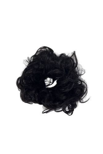 Hair Piece Hair Tie elastic Scrunchie Scrunchy HIGH QUALITY synthetic fiber curly curls DARK BROWN