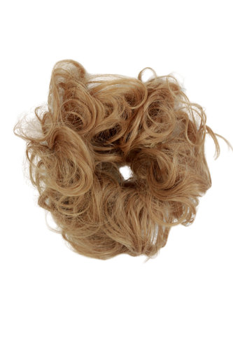 Hair Piece Hair Tie elastic Scrunchie Scrunchy HIGH QUALITY synthetic fiber curly curls DARK BLOND