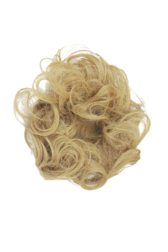 Hair Piece Hair Tie elastic Scrunchie Scrunchy HIGH QUALITY synthetic fiber curly curls BLOND
