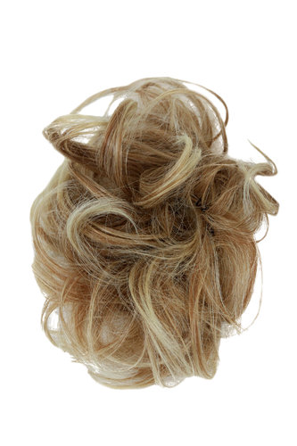 Hair Piece Hair Tie elastic Scrunchie Scrunchy HIGH QUALITY synthetic fiber MIXED BLOND