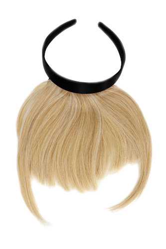 Hair Piece Clip in Bangs Fringe with hair circlet long framing strands HIGH QUALITY synthetic BLOND