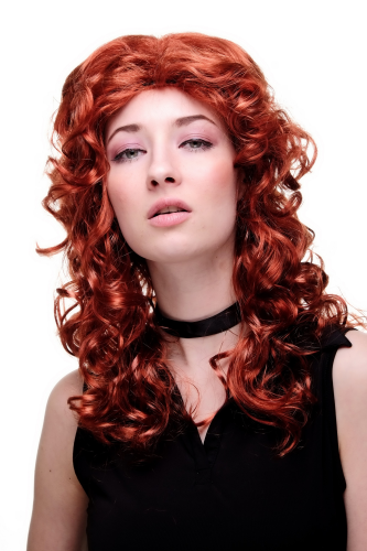 Party/Fancy Dress Lady WIG seductive red long wavy curly middle parting IRISH ROSE medieval beauty