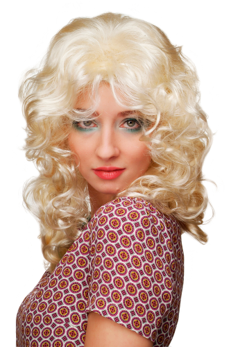 Party/Fancy Dress/Halloween Lady WIG angelic BRIGHT BLOND angel long medieval beauty