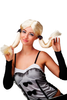 Party/Fancy Dress/Halloween Lady WIG bright blond LONG pigtails COSPLAY Anime Gothic Lolita