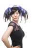 Party/Fancy Dress Lady WIG black naughty stiff colourful pigtails sexy bangs Anime Gothic Lolita
