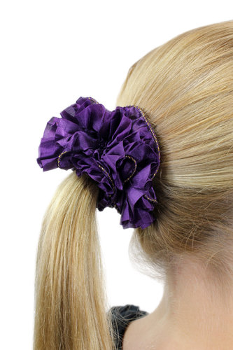 Hair Extensions Scrunchy purple Z005