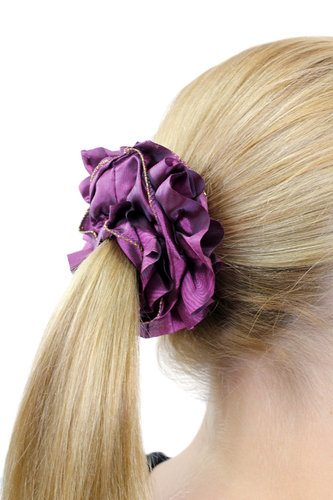 Hair Extensions Scrunchy purple Z006