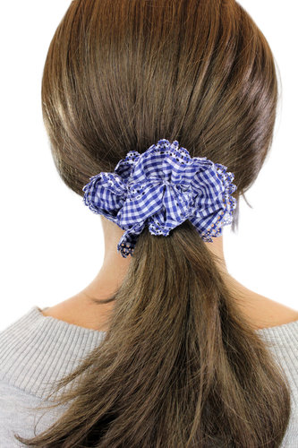 Hair Extensions scrunchy blue Z008