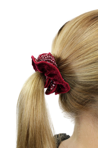 Hair Extensions Scrunchy red Z011